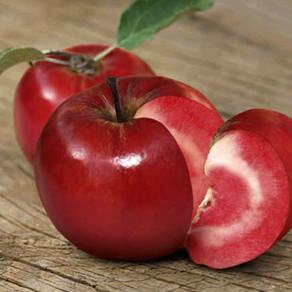 ¿Una manzana de carne roja?