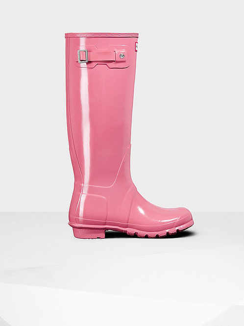 Botas Hunter original tall GLOSS rhodinite pink