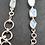 Thumbnail: Designerarmband Silber mit Regenbogenmondstein, von Starborncreations