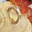 Thumbnail: Silberring durchbrochen mit Vergoldung, eismattiert