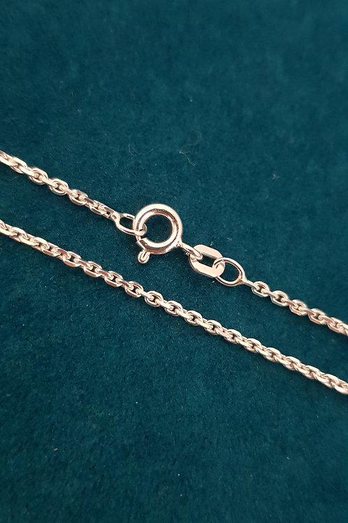 Collierkette Silber, Anker diamantiert