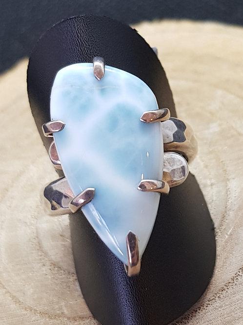 Ring Silber mit Larimar von Starborncreations