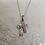 Thumbnail: Anhänger Silber, 2 Kreuze übereinander mit Zirkonia