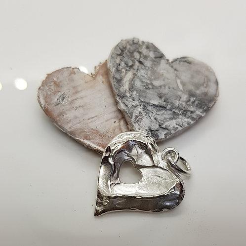 """Anhänger  """" Dein Herz in meinem  Herz"""" aus Silber, eigene Fertigung"""