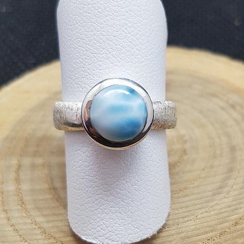Wunderschöner schlichter Silberring mit Larimar, von Starborn