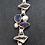 Thumbnail: Designerarmband Silber mit Iolit, Topas und Süßwasserzuchtperle, von Starborn