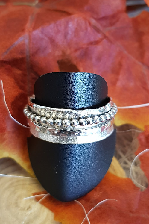 """""""Ring in Ring"""" eigene Fertigung, Silber"""