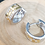 Thumbnail: Creolen breit, Silber teilvergoldet mit Zirkonia