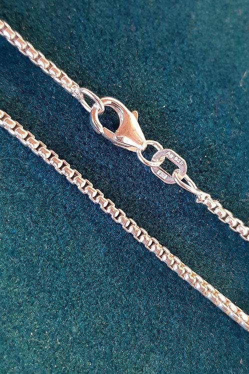 Collierkette Silber, Rundvenezianer