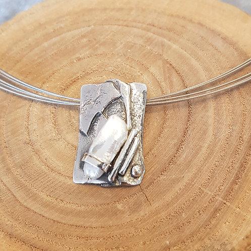 Silberanhänger mit Süsswasserzuchtperle von Büttnerschmuck