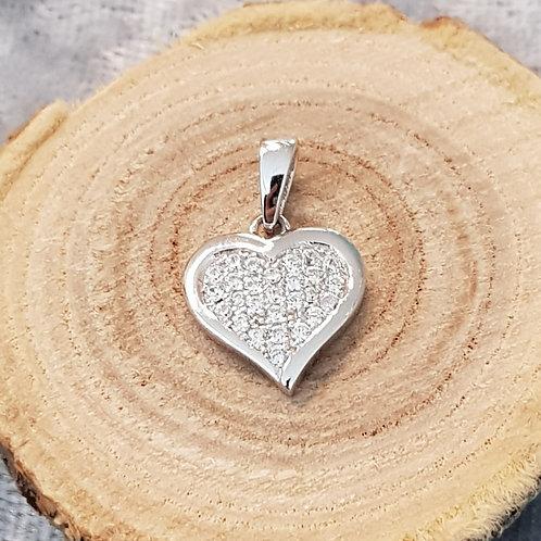 Herz in Silber mit Zirkonia