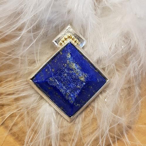 Silber mit Feingold, Anhänger mit Lapis-Lazuli, Unikat