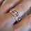 Thumbnail: Silberring Gitteroptik,aus eigener Werkstatt
