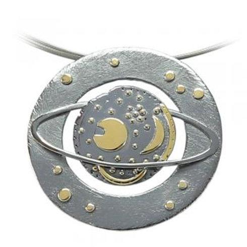 Anhänger nach der Himmelsscheibe von Nebra, Modell Saturn, von Büttnersachmuck