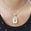 Thumbnail: Silberanhänger Bergkristall (Phantomquarz)