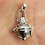 Thumbnail: Ein besonders edler Anhänger, Gibeon Meteorit gefasst wie Engelsrufer