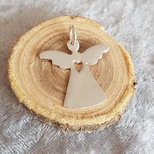Silberanhänger Engel mit Herzchen