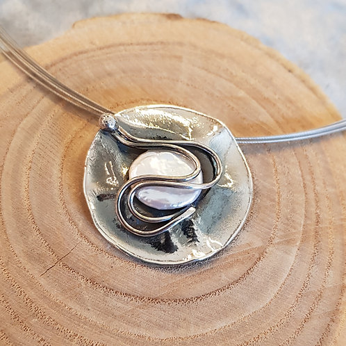 Anhänger Silber mit Süßwasserzuchtperle von Büttnerschnuck