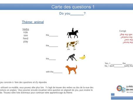 Les  cartes des questions en anglais