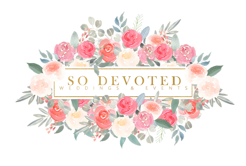 So Devoted Weddings and events Logo no b