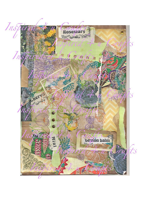 Garden Themed Collage paper pdf