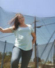 Ashley Fackler standing in the sun