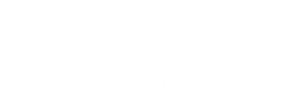 Beautiful relationships lead to beautiful hair text