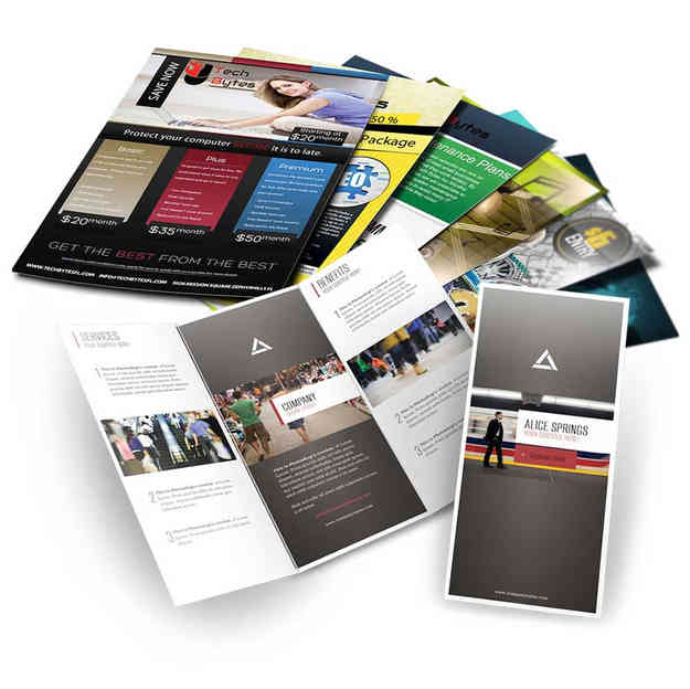 Letáky, brožúry, katalógy