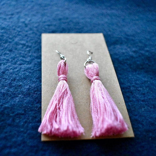Colored tassel earrings