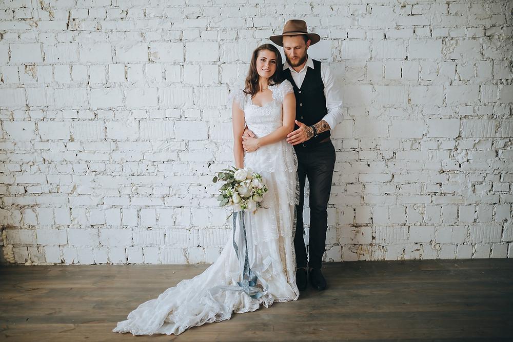 The vintage wedding look