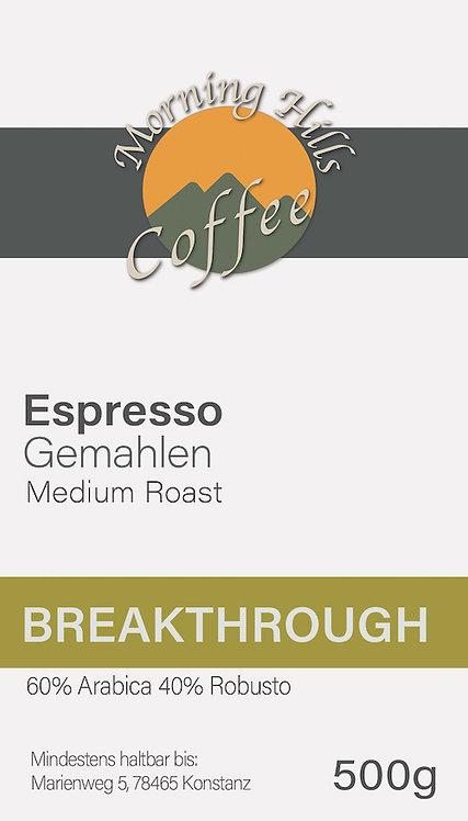 Breakthrough Espresso 500g GEMAHLEN