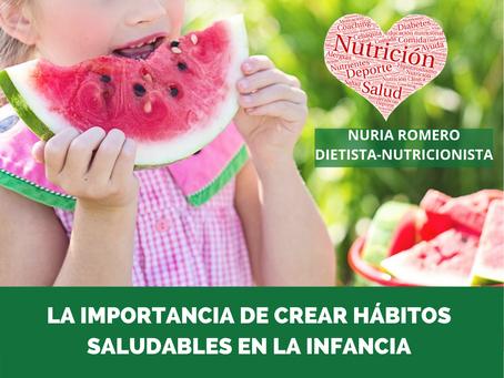 Importancia de crear hábitos saludables en la infancia