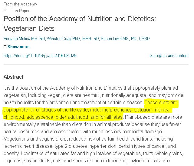 Alimentación vegetariana y embarazo