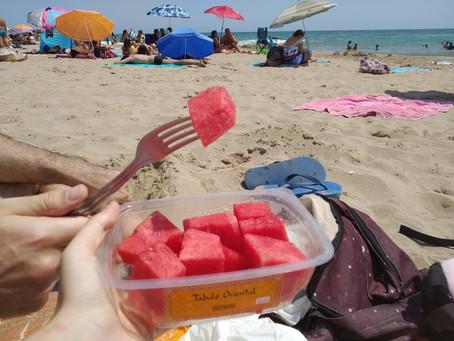 Ideas vegetarianas y veganas para comer en la playa