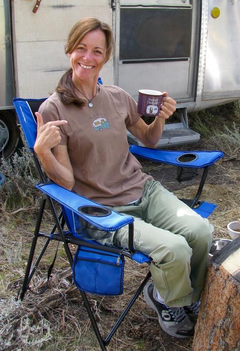 Relaxing In WY Elk Camp.
