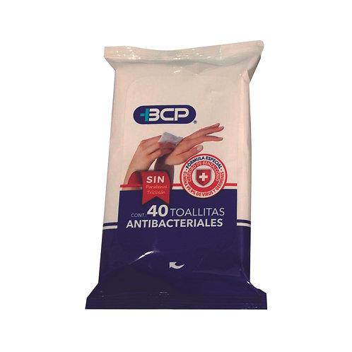 Toallitas antibacteriales y desinfectantes  BCP