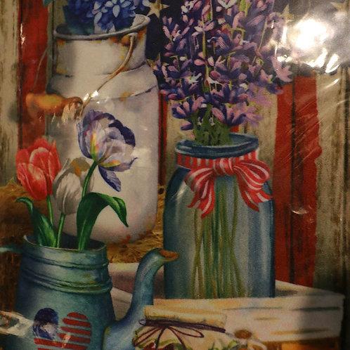 Flowers in Pots Premium Garden Flag