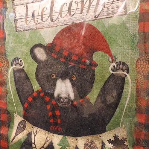 Holiday Bear Premium Garden Flag
