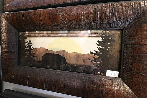 Rustic Bear Print in Frame