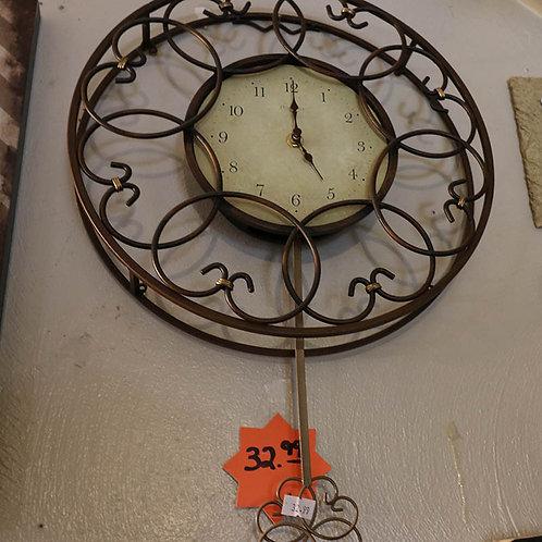 Metal Designed Pendulum Wall Clock