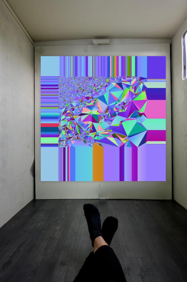Roma Anderson - Shrub (6) Map (2019) 3D print - 75 x 75 cm. Courtesy of the artist.