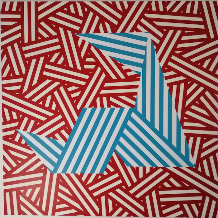 Liam Bourton, Poly (2019)- Enamel on alumi,150x150