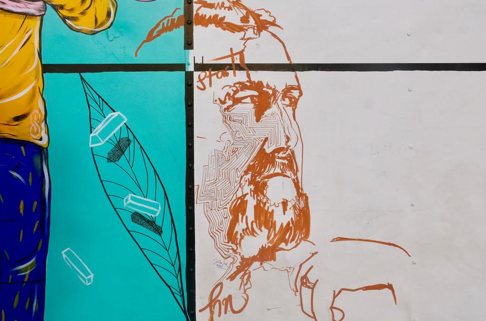 Jon Jeet's addition onto the truck's public participatory artwork
