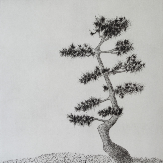 Kyla Cresswell - Matsu III - Drypoint by