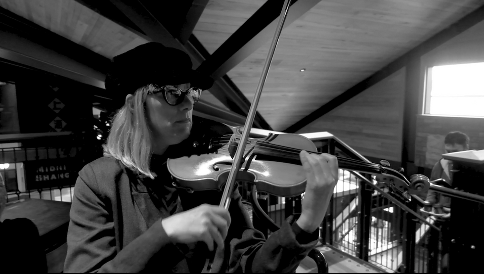 Close up of violinist Fiona Pears