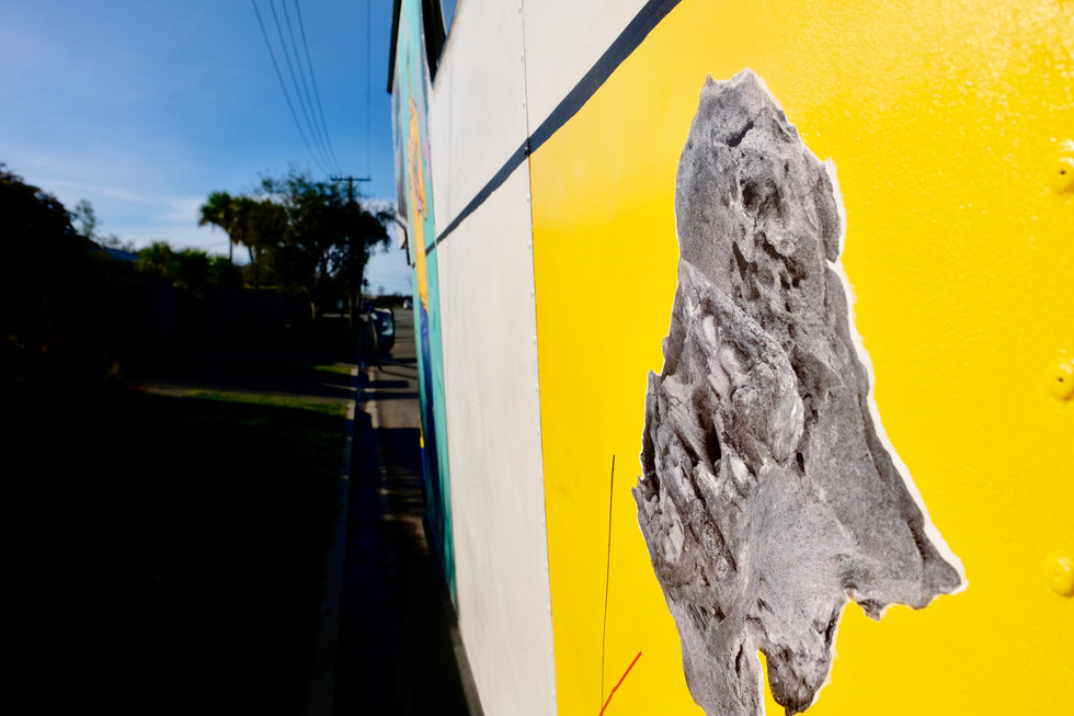 Edwards + Johann's addition onto the truck's public participatory artwork