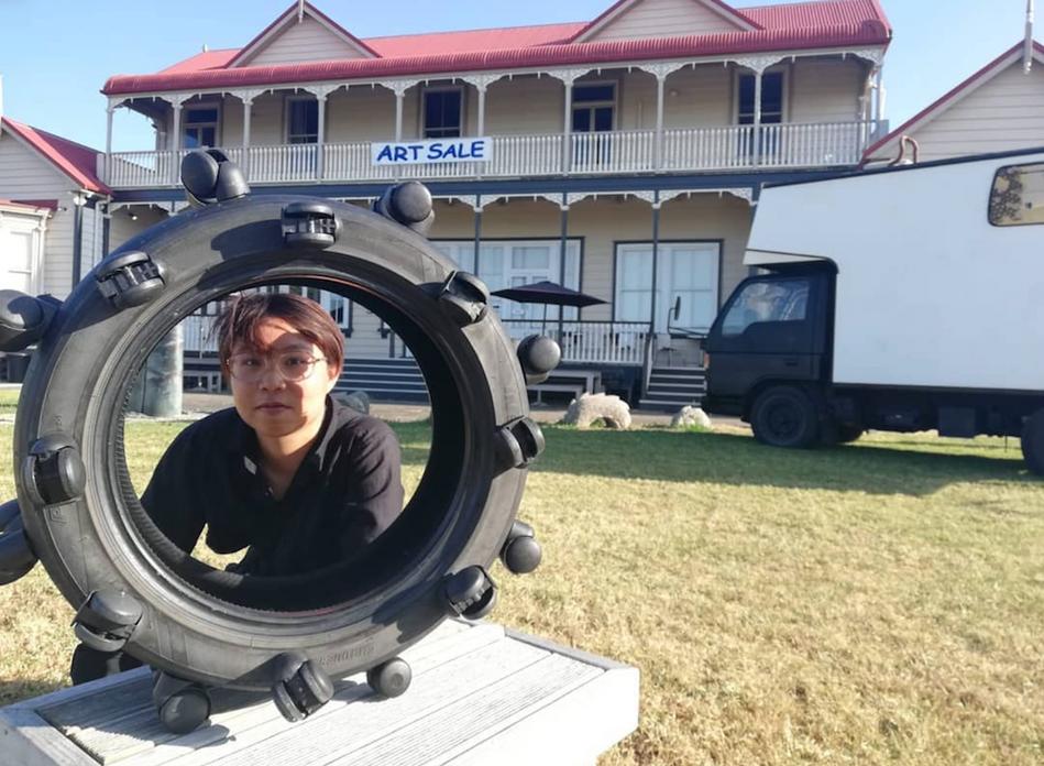 Ada Leung, Wheels on Wheels (2018).