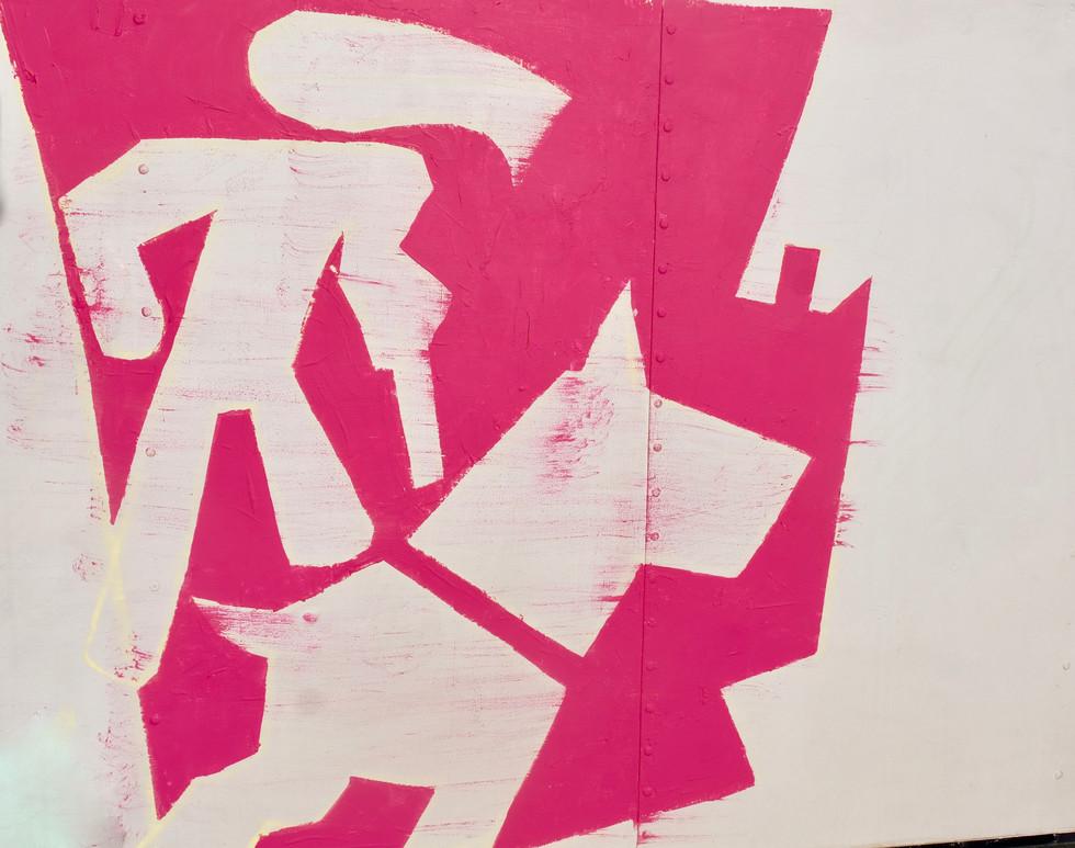 Philip Trusttum's addition onto the truck's public participatory artwork