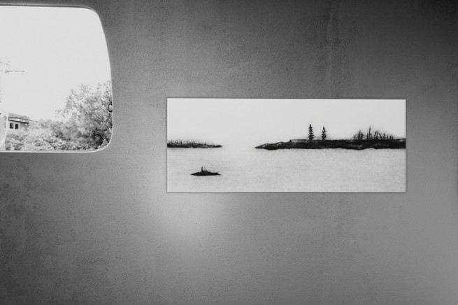 Kyla Cresswell - When all is calm (2017), Drypoint (ed. of 6), Image 10x25cm ; Paper: 22x35cm - Courtesy of the artist