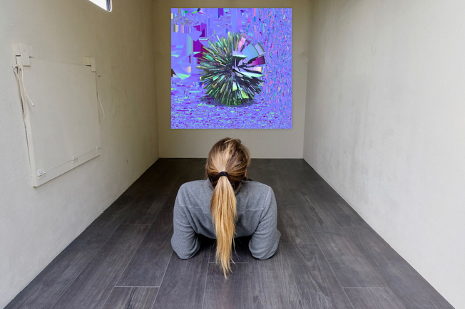 Roma Anderson - Hebe (2) Spore with Map (2019) 3D print. 75 x 75 cm. Courtesy of the artist.